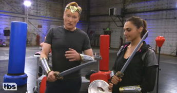 Gal Gadot Proves She's A Real-Life Wonder Woman While Training With Conan O'Brien