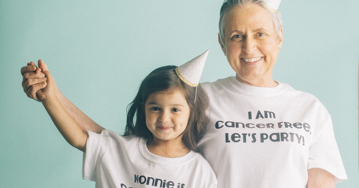 In Series Of Precious Photos, This Toddler Celebrates Her Grandma Who Beat Cancer