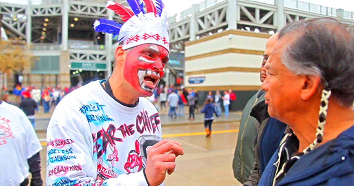 are indian mascots racist Why use of native american nicknames is an obvious affront which banned the use of american indian mascots at its postseason tournaments it's racist.