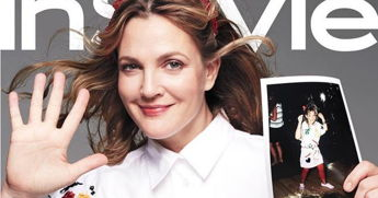 Drew Barrymore Gets Nostalgic In A Photo Shoot Recreating Her Childhood Photos