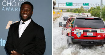 Kevin Hart Begins Social Media Challenge To Help Victims Of Hurricane Harvey