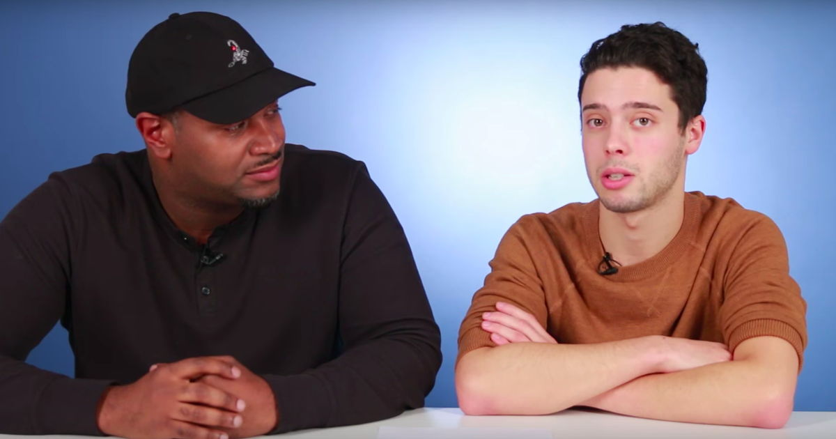 Men answer commonly Googled questions about men in BuzzFeed video.