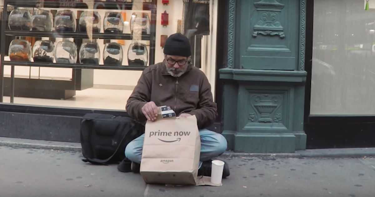 Man Devised Brilliant Amazon Prime Hack To Help Homeless New Yorkers Keep Warm