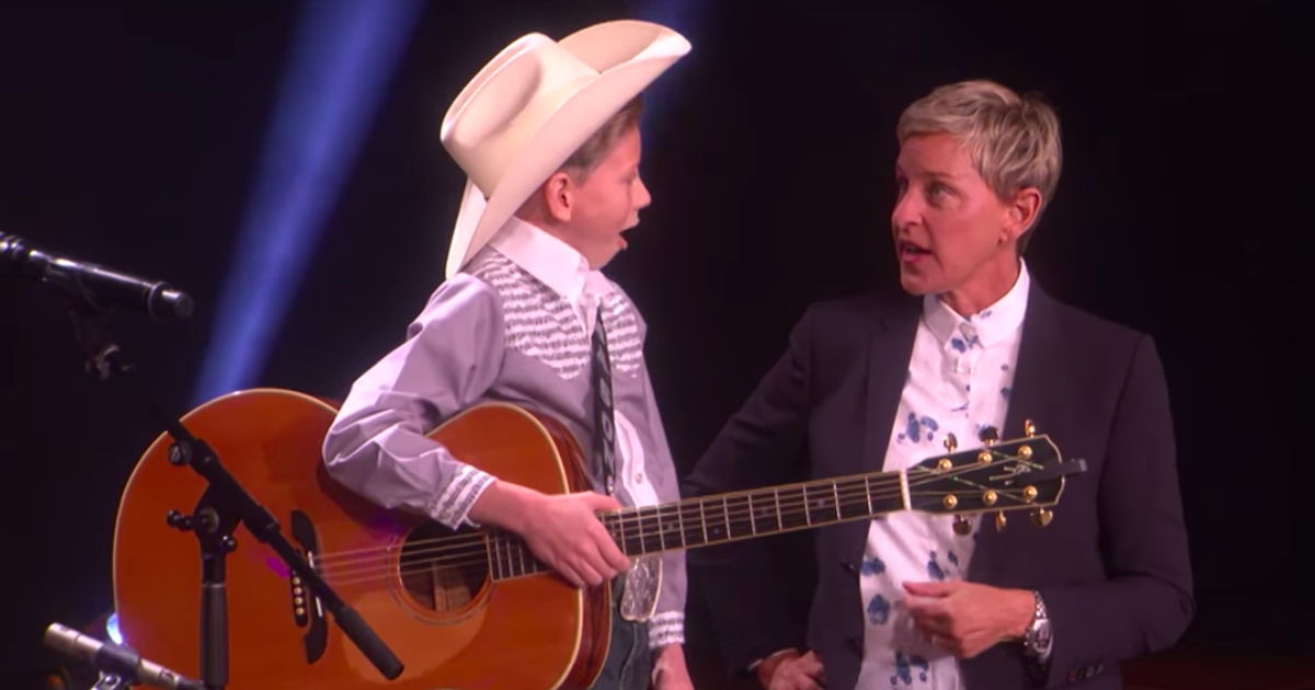 'Walmart Yodeling Boy' Makes His 'Ellen' Debut And Ends Up In Tears For The Best Reason